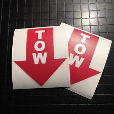 Tow Hook Arrow Decal Bumper Sticker PAIR | Autocross Race Track SCCA Racing