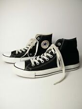 UNISEX CONVERSE CHUCK TAYLOR UK 8 BLACK TEXTILE LACE UP HI TOP TRAINERS SNEAKERS