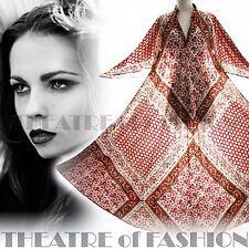 Vestido De Colección De La India Phool 70s Kaftan M L XL 60s Hippy Boho Boda diosa Vamp