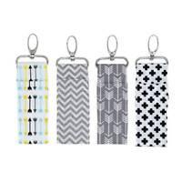 1x Arrow Wave Wristlet Lip Balm Key Ring Chapstick Holder Lipstick Keyring Bag