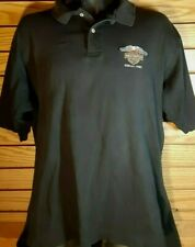 Harley Davidson Embroidered Logo Honolulu Hawaii Outer Banks Polo Shirt Men's XL
