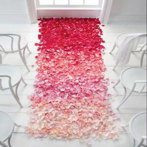 Fake Flower Petals Wedding Silk Decoration Artificial 1000pc Rose Confetti Party