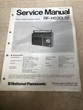 Panasonic RF-1103DLBE  service manual For Portable Radio
