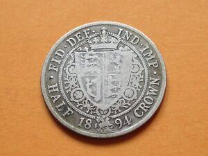 Collectable Grade 1894 Half Crown Silver