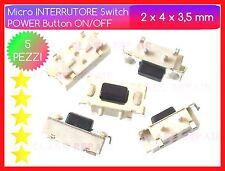 5 Tasto POWER ON/OFF Micro INTERRUTTORI 2x4x3.5 mm Pulsante Accensione TABLET PC