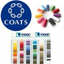 Moon Thread Coats Polyester 1000 Yard Sewing Machine Multi Buy Discount