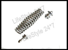 New BSA M20 M21 Fork Girder Spring Chrome With Top & Bottom Fitting Nuts