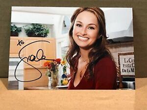 GIADA DE LAURENTIIS Hand Signed Autograph 4x6 Photo - CHEF FOOD NETWORK