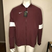 Nike Jacket Therma Football Dri-Fit Varsity Crimson Maroon AO5854-669 Size Large