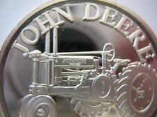 1-OZ.RARE JOHN DEERE MODEL G TRACTOR CHRISTMAS  GIFT.999 PROOF SILVER COIN+GOLD