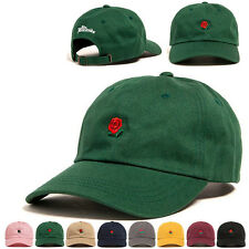 The Hundreds Dad Hat Flower Rose Embroidered Curved Brim Baseball Cap Visor Hats