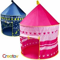Pink Portable Folding Kids Princess Play Tent Castle for Indoor/Outdoor Use