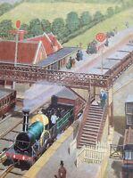 Ephemera 1985 Book Plate Railway Picture10x8 Inch Aeriel At Twyford