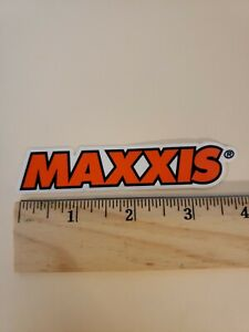 """3.75"""" Maxxis Tires Mx cycles  MTB BICYCLES BIKE FRAME ride  STICKER DECAL orange"""