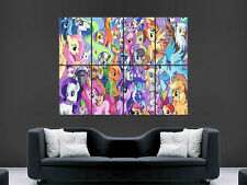 MY LITTLE PONY COLLAGE   ART   WALL POSTER ART  PRINT LARGE HUGE