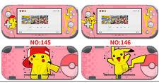 Vinyl Decal Skin Sticker Protector for Nintendo Switch Lite Pikachu S3