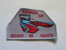 Budweiser Cup Boat Racing Patch 1988  Seafair Regatta,  (Boat #04)(**)
