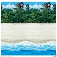 40FT HAWAIIAN LUAU GARDEN BEACH SAND SEA ROOM SCENE SETTER WALL  DECORATIONS