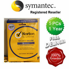 Norton ( Internet ) Security Antivirus All In ONE 5 PCs 1 Year Retail 2019 UK