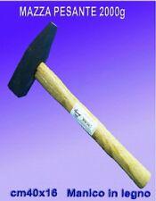 Martello manico in legno martello mazza DA 2000g  mazzola mazzetta piatta e punt