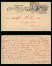 MayfairStamps US 1882 Baton Rouge to Bergen Norway Louisiana Used Stationery Car
