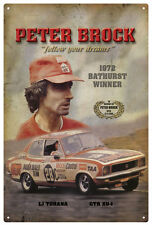 PETER BROCK LJ TORANA VINTAGE TIN SIGN 20 x 30 cm