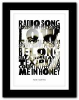 ❤  R.E.M. - Out Of Time  ❤ typography poster art print - A1 A2 A3 or A4