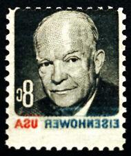 #1394 8c 1970 Eisenhower Scarce Complete Reverse Offset Error MNH