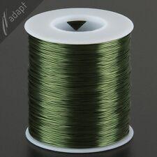 Magnet Wire, Enameled Copper, Green, 24 AWG (gauge), HPN, 155C, ~1 lb, 800 ft