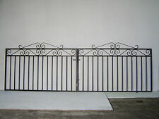 Wrought iron driveway gate for 10ft 6in opening 39ins high HOT DIPPED GALVANIZED