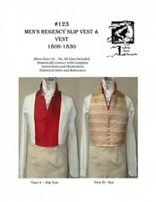 LAUGHING MOON SEWING PATTERN 123 MENS VEST & SLIP VEST c1806-1830 SIZES 34-56