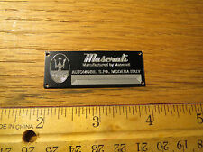 Maserati Metal Display Plaque CMC Revival Model & Diecast 1/24 1/18 1/43 1/87
