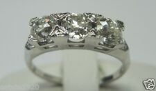 Antique Diamond Engagement Ring 18K White Gold Ring Size 5 EGL USA Art Deco Fine