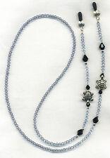 Hi Quality SILVER TURTLES Eyeglass~Glasses Holder Necklace Chain *CUSTOM LENGTH*