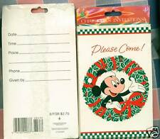 NIP 2 Packs Christmas Invitations Mickey Mouse Disney
