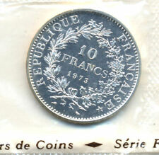10 FRANCS ARGENT HERCULE 1973 SOU PLASTIC
