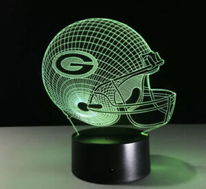 Green Bay Packers NFL FOOT BALL TEAM LED Light Lamp Collectible Home Decor Gift