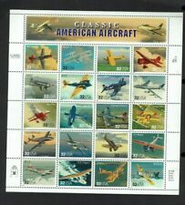 United States: 1997, American Aircraft, Sheetlet 20 gummed stamps MNH