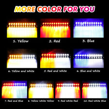12 LED CAR  Windshield Strobe Light Emergency Visor Warning Lamps Red White Blue