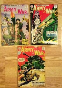 Sgt Rock..Our Army At War # 87, 101, 122, ..,.set of 3 DC Comics