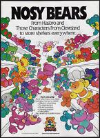 NOSY BEARS__Orig. 1987 Trade Print AD / poster / toy promo__Hasbro / Playskool