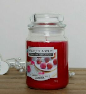 Large Yankee Candle Jar Scented Pink Lychee Mothers Day Gift Home Decoration