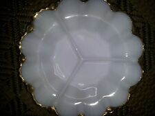 Vintage Retro Anchor Hocking Fireking Fire King lustre ware divided plate