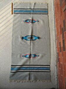 """Vintage Southwestern Native American Runner Rug, Chimayo / Navajo ? (69"""" x 33"""")"""
