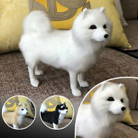 Realistic Simulation Husky Dog Plush Toy Doll Stuffed Fluffy Animal Kids Gifts