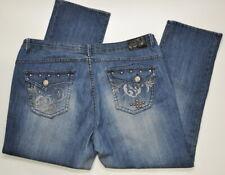 "Apple Bottoms Jeans Women's Plus Size 20 studded Back Pockets Inseam 30"""
