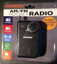 SYLVANIA SRC100-BLACK Portable AM/FM Radio (Black)