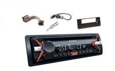 SONY CDX-G1101U Amber Set Autoradio CD MP3 AUX USB für BMW 5 ( E39 ) X5 ( E53 )