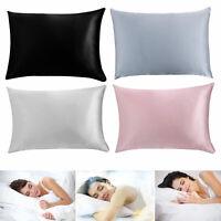 """Smooth Satin Silk Queen [30""""x20""""] Pillowcase Bedding Pillow Case Home Decoration"""