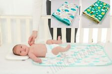 Baby Change Mat 100% Waterproof Reusable Nappy Diaper Changing Pad Cover Large!!